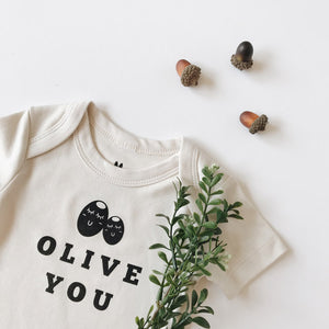 Close up of Olive You Design