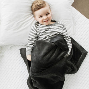 Saranoni Lush Receiving Blanket - Charcoal