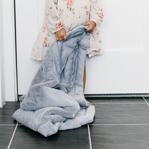 Saranoni Lush Receiving Blanket - Storm Cloud