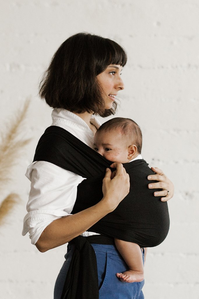 Solly Baby Wrap Carrier in Black
