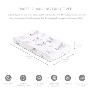Oilo Jersey Changing Pad Cover - Cottontail