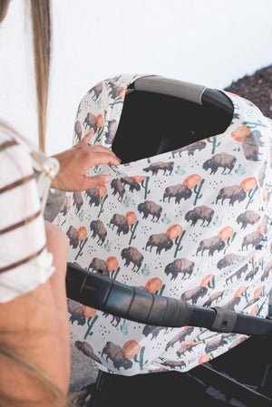 Copper Pearl Multi-Use Car Seat Cover - Bison