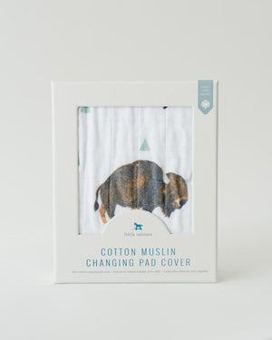 Little Unicorn Changing Pad Cover in Bison