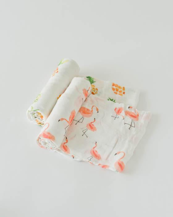 Little Unicorn Deluxe Muslin Swaddle Blanket Set - Pink Ladies