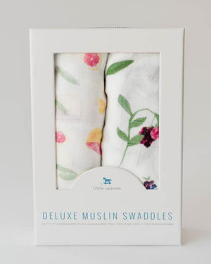 Little Unicorn Deluxe Muslin Swaddle Blanket Set - Sweet Tart