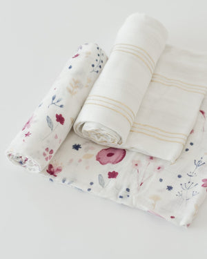 Little Unicorn Deluxe Muslin Swaddle Blanket Set - Fairy Garden