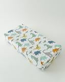 Little Unicorn Changing Pad Cover in Dino Friends