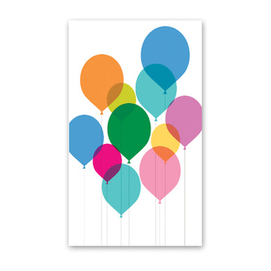 rock scissor paper enclosure card - balloons