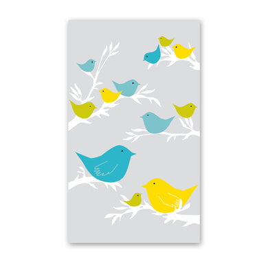 rock scissor paper enclosure card - bird flock