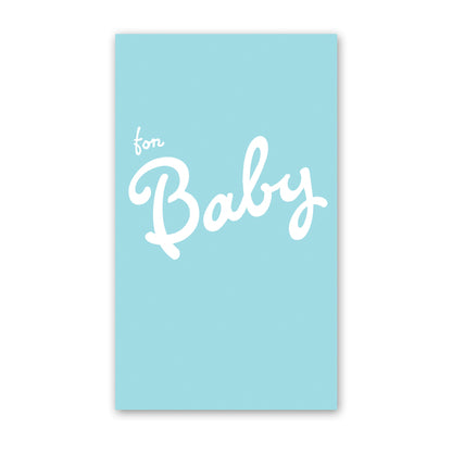 rock scissor paper enclosure card - blue baby cursive