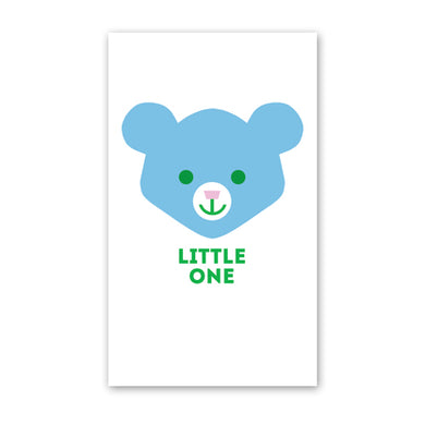 rock scissor paper enclosure card - blue bear face