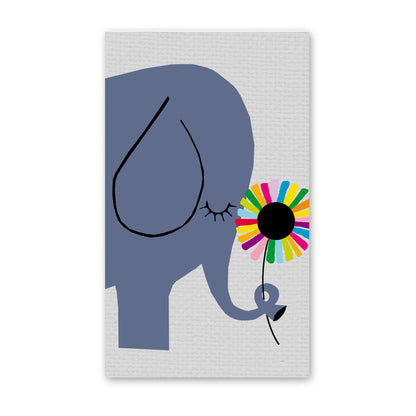 rock scissor paper enclosure card - ellie the elephant