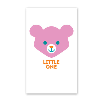 rock scissor paper enclosure card - bear face
