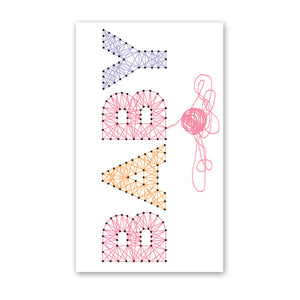 rock scissor paper enclosure card - pink string baby