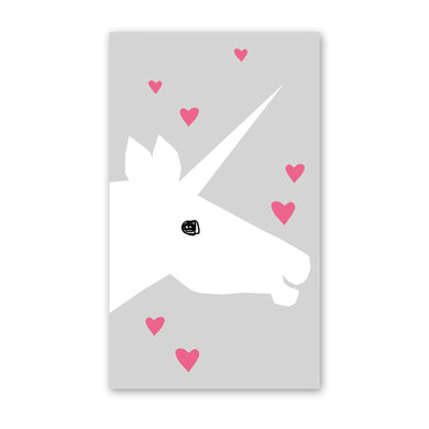rock scissor paper enclosure card - unicorn and hearts