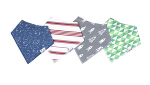 Copper Pearl 4-Pack Bandana Bibs - Apollo