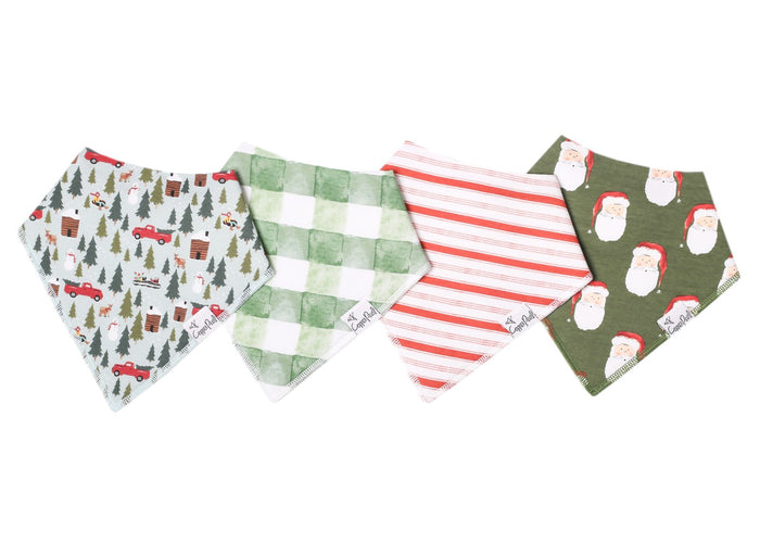 Copper Pearl 4-Pack Bandana Bibs - Kringle