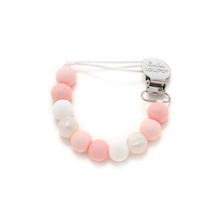 LouLou Lollipop Lolli Silicone Pacifier Clip in Baby Powder