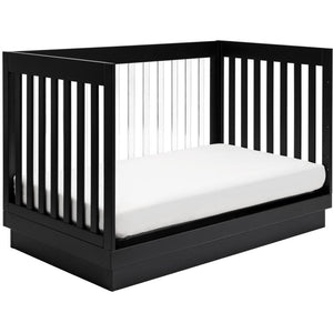 Babyletto Harlow 3-in-1 Convertible Acrylic Crib with Toddler Bed Conversion Kit