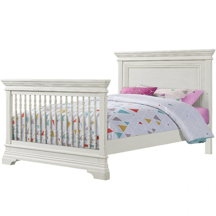 Westwood Design Olivia Full Size Bed Conversion Rails In Brushed White