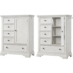 Westwood Design Olivia Chifforobe In Brushed White