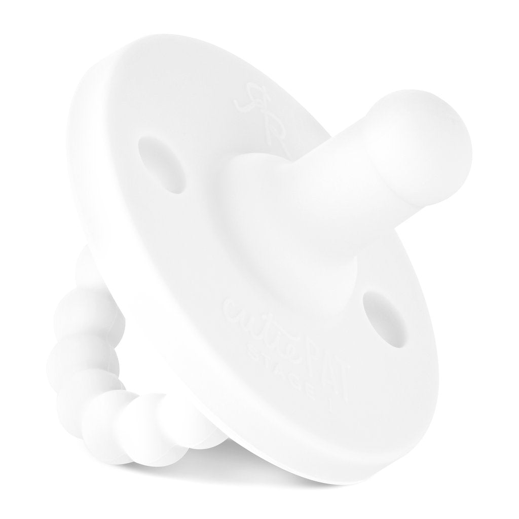 Ryan and Rose Cutie Pat Round Pacifier - Stage 1 - White