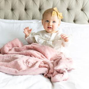 Saranoni Lush Receiving Blanket - Ballet Slipper
