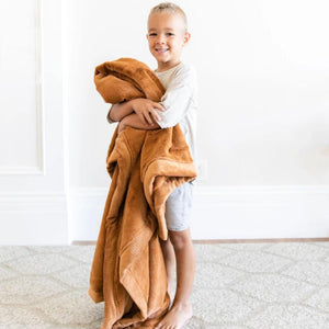 Saranoni Lush Toddler to Teen Blanket - Camel