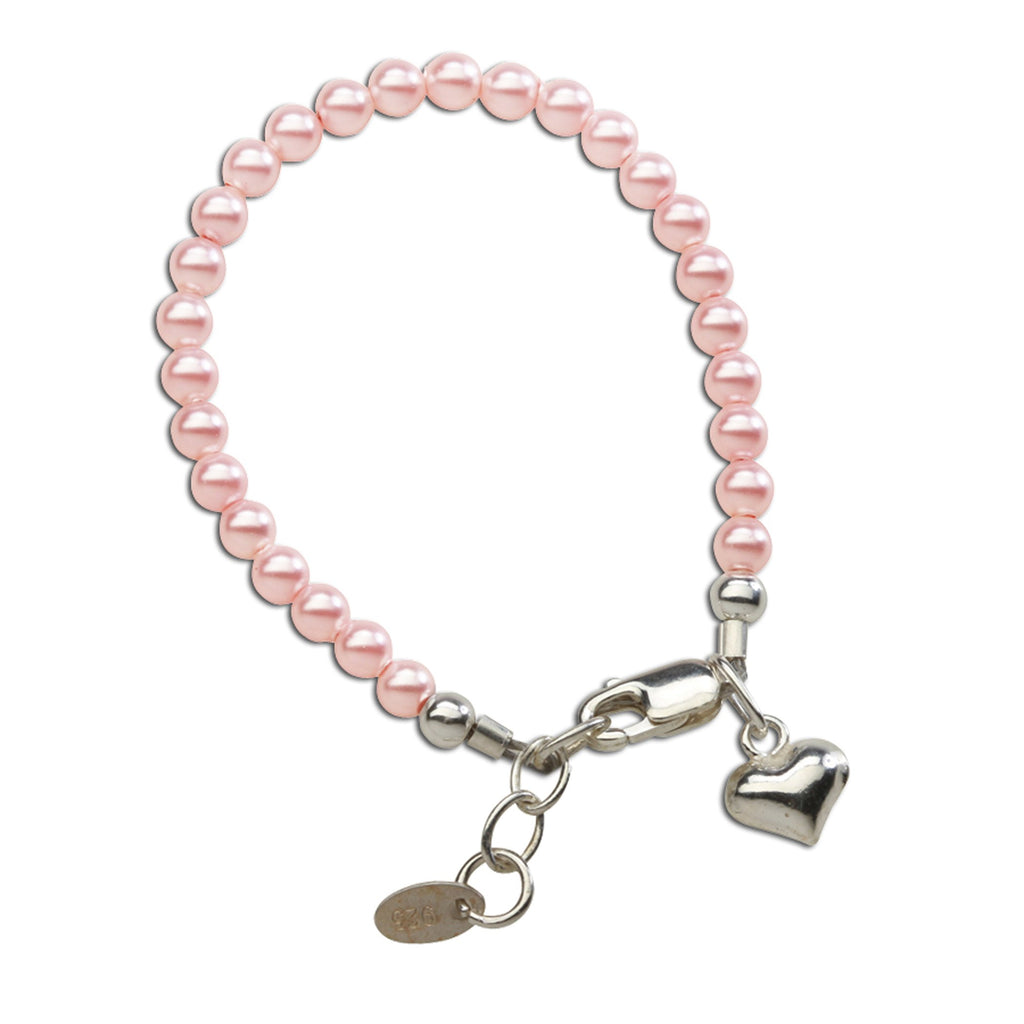 Cherished Moments Serenity 2 (Pink) - Sterling Silver Pink Pearl Bracelet - Medium (1-5 Yr)