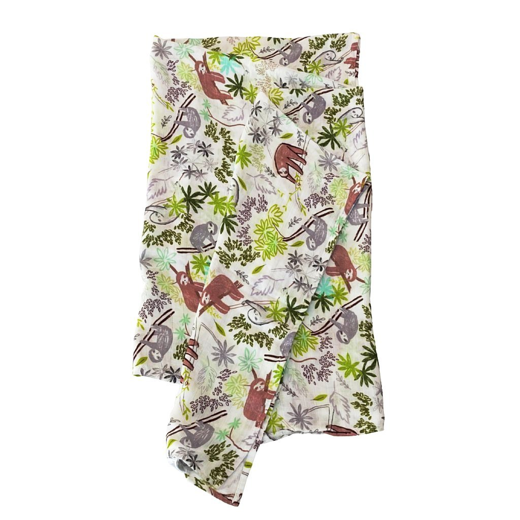 Loulou Lollipop Luxe Muslin Swaddle - Sloth