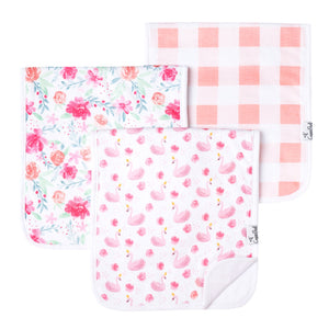 Copper Pearl Premium Burp Cloths 3 Pack- June