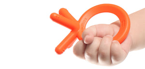 Comotomo Silicone Baby Teether in Orange