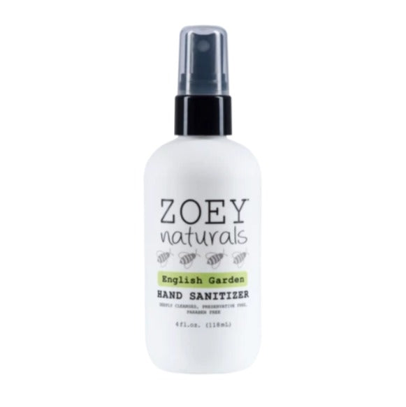 Zoey Naturals Hand Sanitizer English Garden