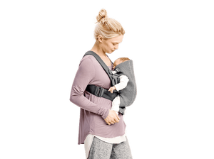 BabyBjorn Carrier Mini in Light Gray Jersey