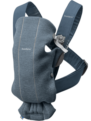 BabyBjorn Carrier Mini in Dove Blue Jersey