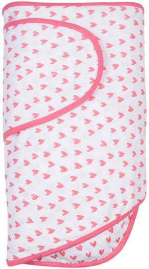 Miracle Blanket - Coral Hearts