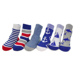 Me in Mind Socks Set - Boys Nautical 0-12m