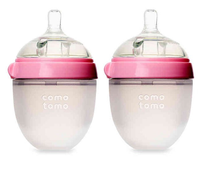 Comotomo Baby Bottle in Pink - 5 Ounce - 2 Pack
