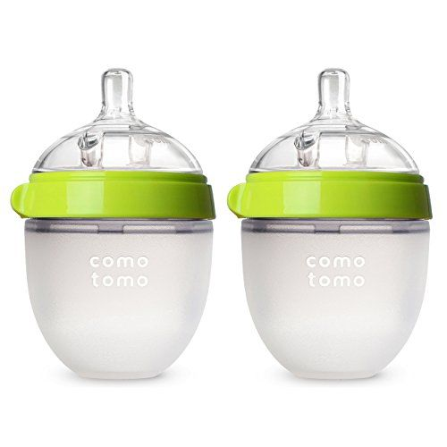 Comotomo Baby Bottle in Green,  5 Ounce, 2 Pack