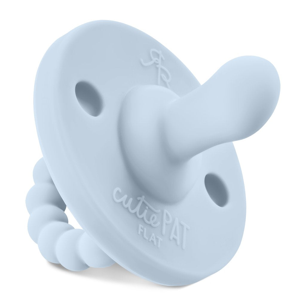 Ryan and Rose Cutie Pat Flat Pacifier - Stage 1 - Blue