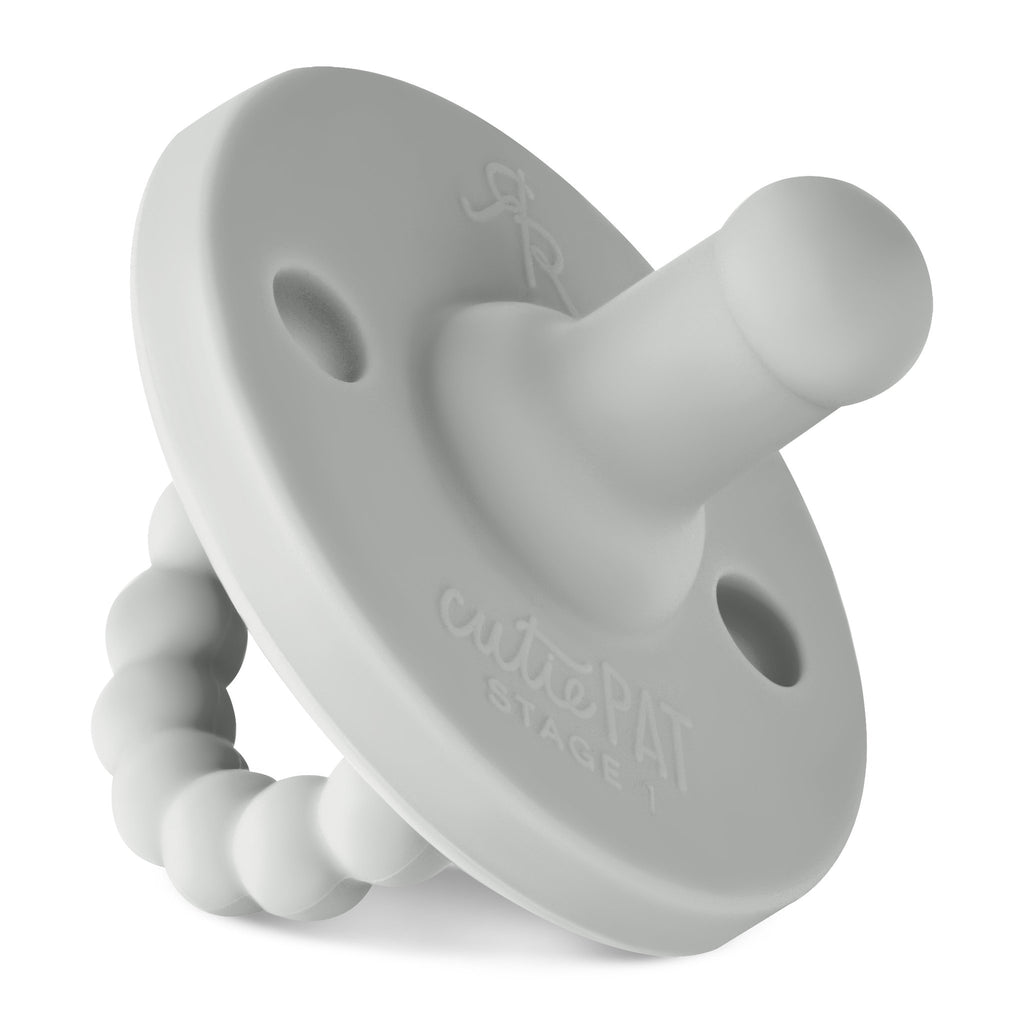 Ryan and Rose Cutie Pat Round Pacifier - Stage 1 - Grey