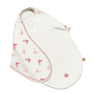 Nested Bean Zen Swaddle Premier Small(0-6m) - Blushing Butterflies