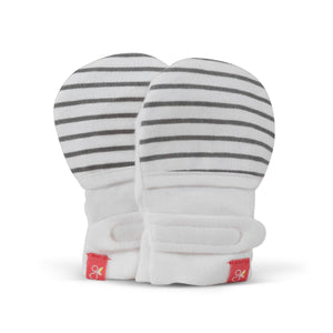 Goumi Mitts - Gray Stripe - 0-3 months