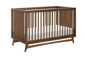 babyletto Peggy 3-in-1 Convertible Crib with Toddler Bed Conversion Kit in Natural Walnut