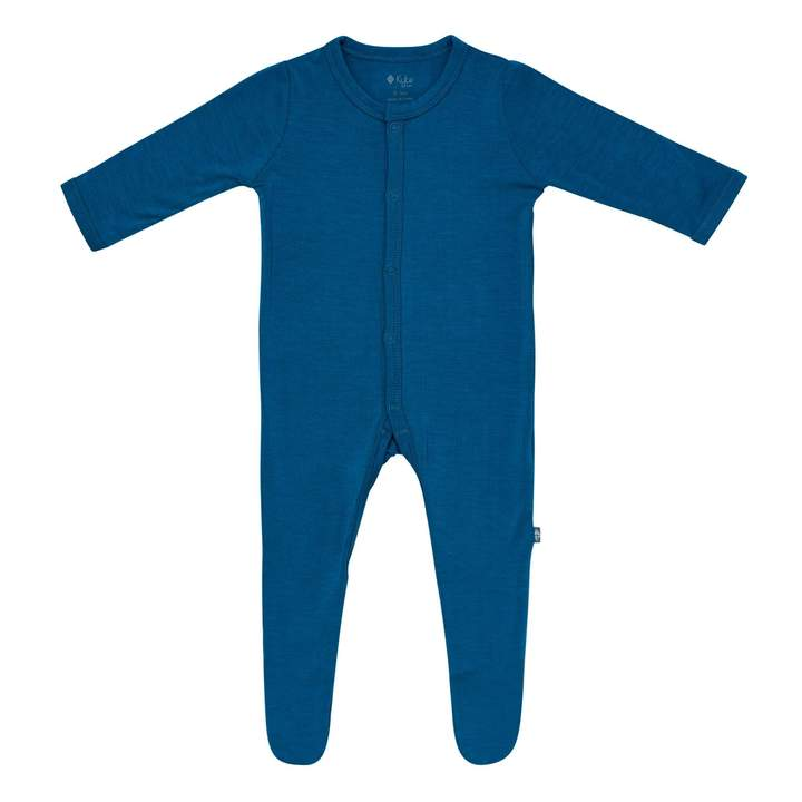 Kyte Baby Snap Footie - Sapphire