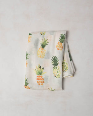Little Unicorn Deluxe Muslin Single Swaddle  - Pineapple