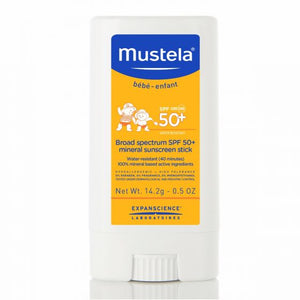 Mustela Spf 50+ Broad Spectrum Mineral Sunscreen Stick