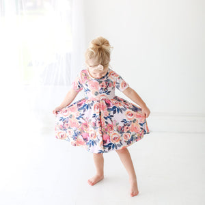 Posh Peanut Twirl Dress in Dusk Rose