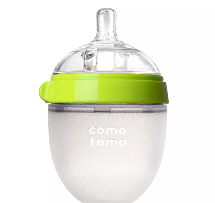 Comotomo Baby Bottle in Green,  5 Ounce Single