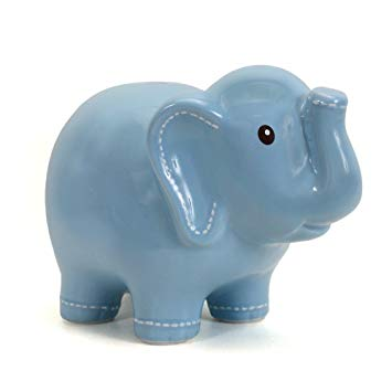 Child to Cherish Elephant Bank - Stitched Blue